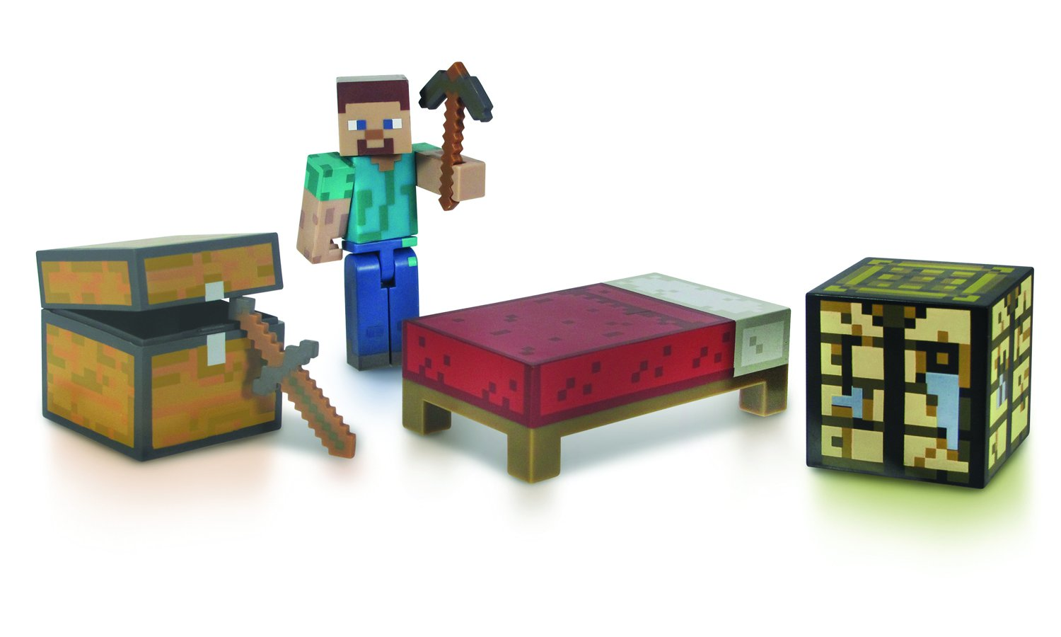 Minecraft Core Player Survival Pack Action Figure Jazwares Domestic 16450