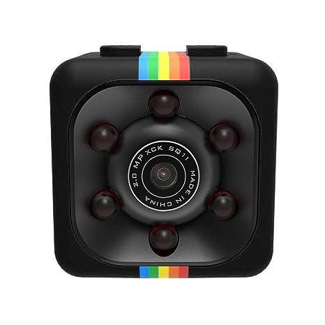 WEIHUIMEI SQ11 1080P Mini Cámara, Cámara Deportiva Cámara HD Videocámara Visión Nocturna Miniatura, Cámara
