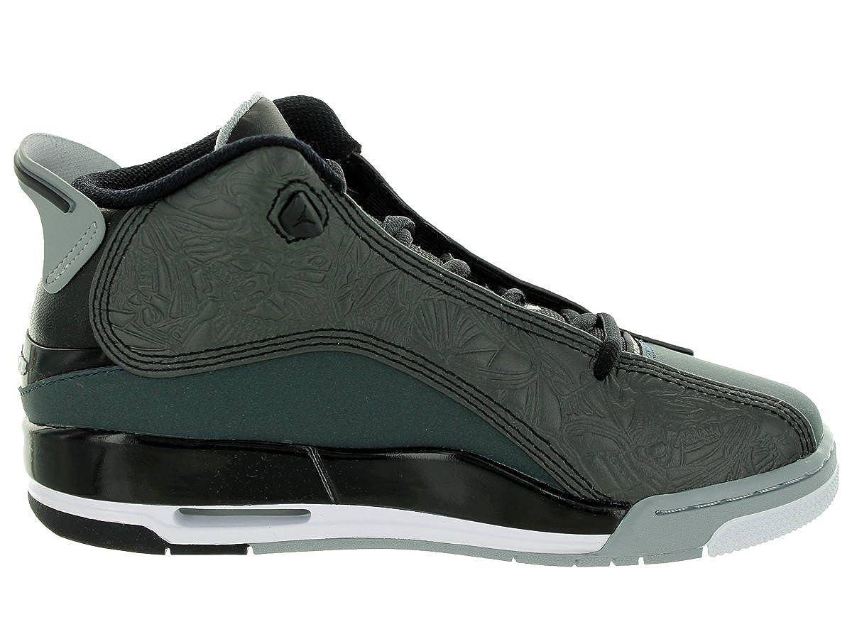 GS Jordan Nike Kids Air Dub Zero Black//White//Clssc CHRCL//WLF Gry Basketball Shoe 4.5 Kids US