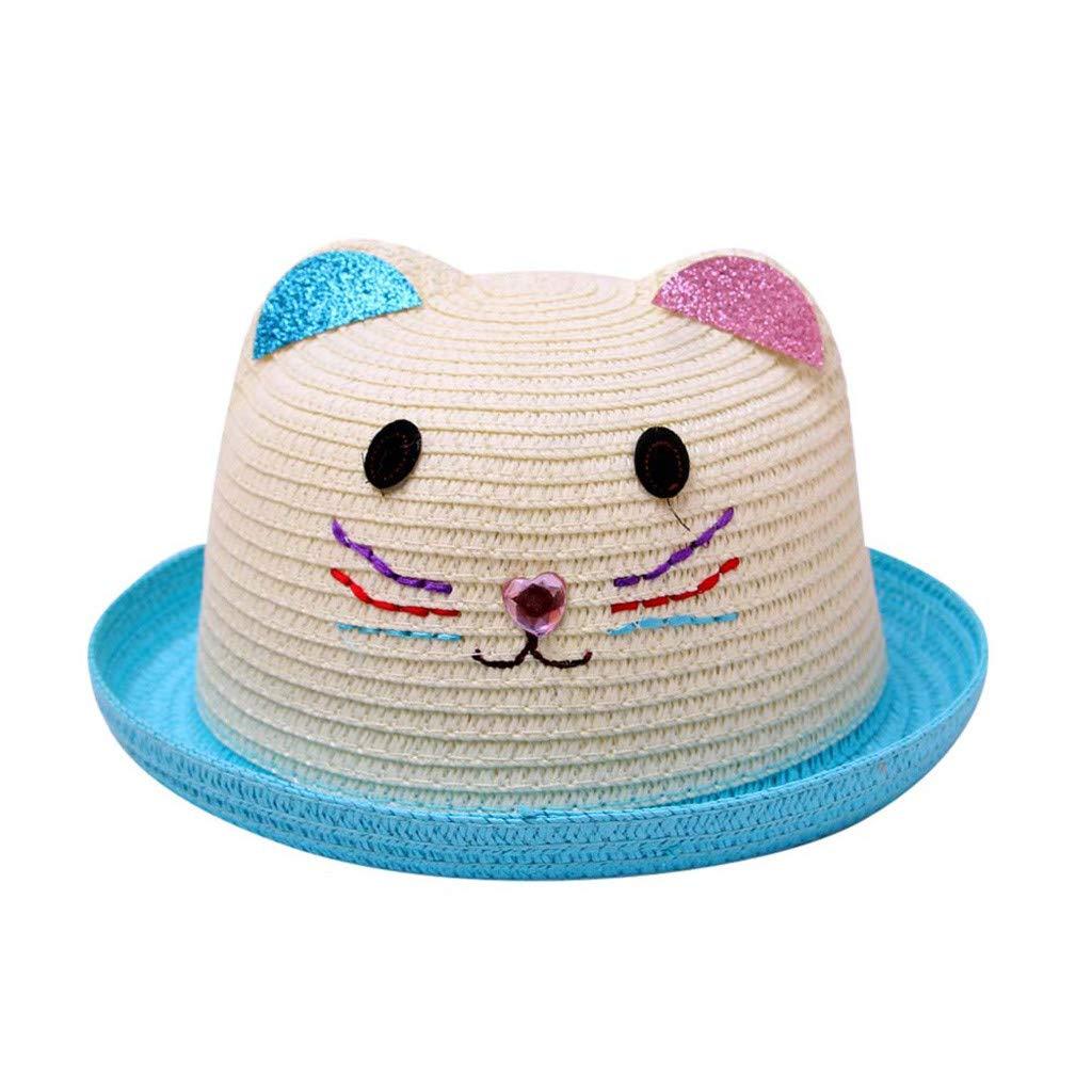 LiLiMeng Summer Baby Lovely Cartoon Children Breathable Hat Straw Hat Kids Hat Boy Girls Hat Cap
