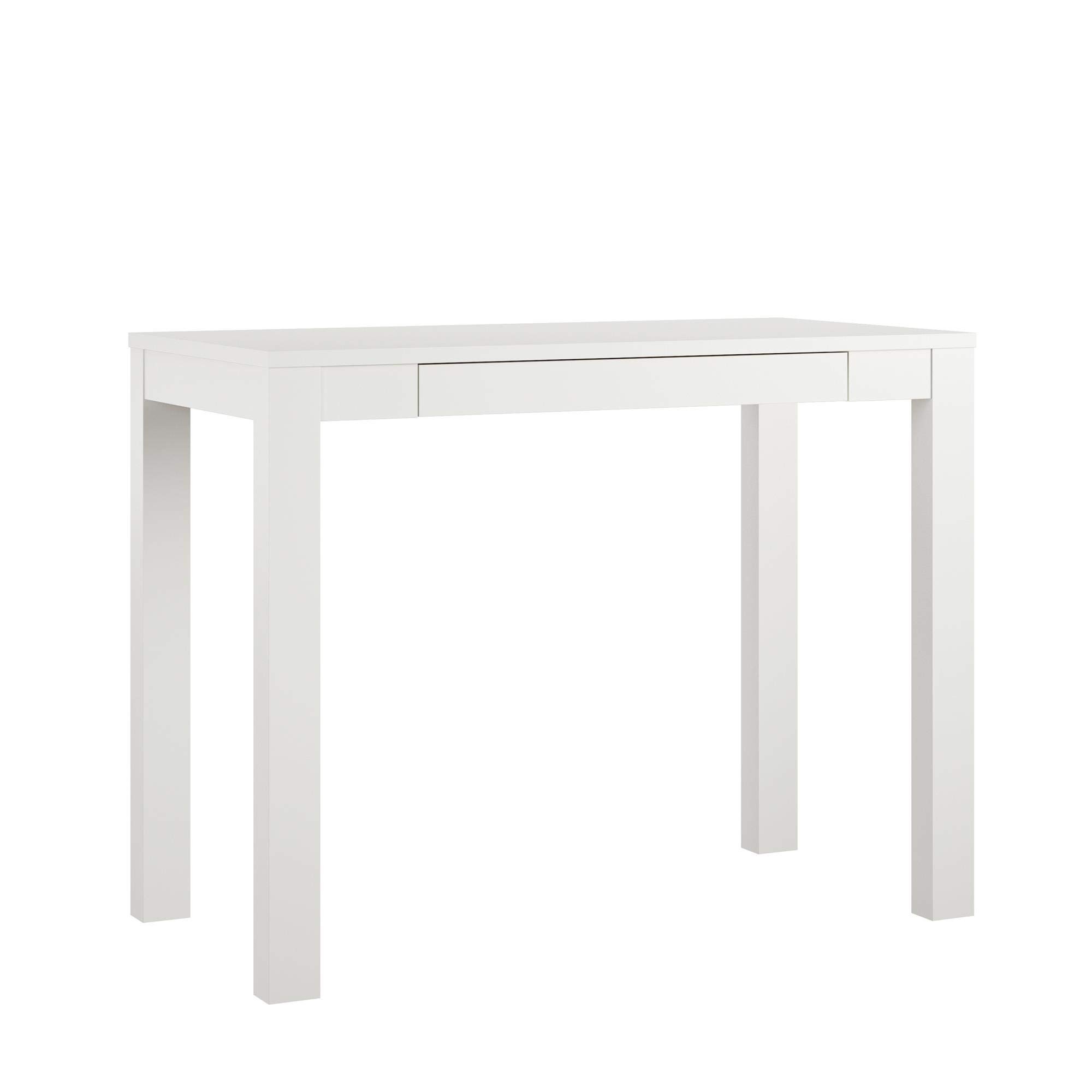 AmazonBasics Wooden Desk with Drawer - 39-Inch, White