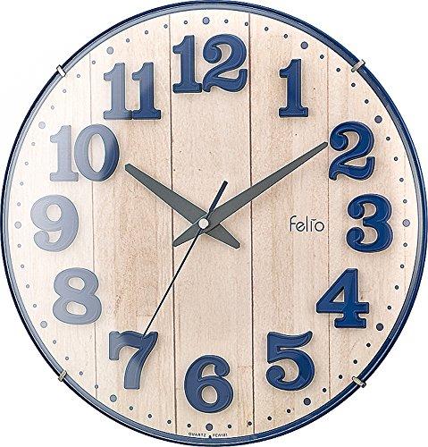 Felio 탁상시계・벽시계 네이비 블루 (약) 높이30.8×폭.30.8×(길이)깊이5.7cm