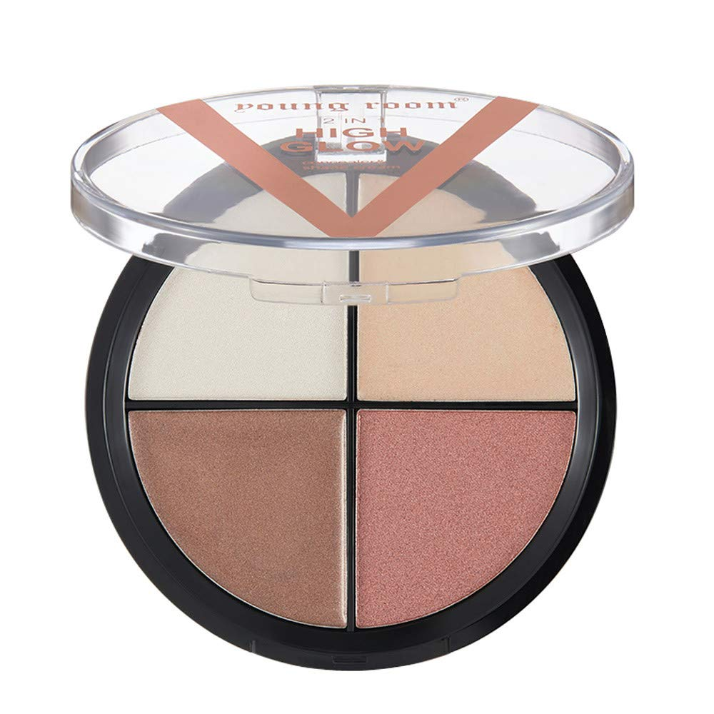 AMSKY Four-color High-gloss Eye shadow Waterproof Does Not Hurt Skin