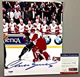 #2: Chris Osgood Vs Patrick Roy Signed 8x10 Fight Photo Detroit Red Wings Coa - PSA/DNA Certified