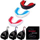 Mengdger Youth Mouth Guard Football Moldable MouthGuard Sports Kids Boys Mouthpiece Teeth Protective Braces EVA Double…