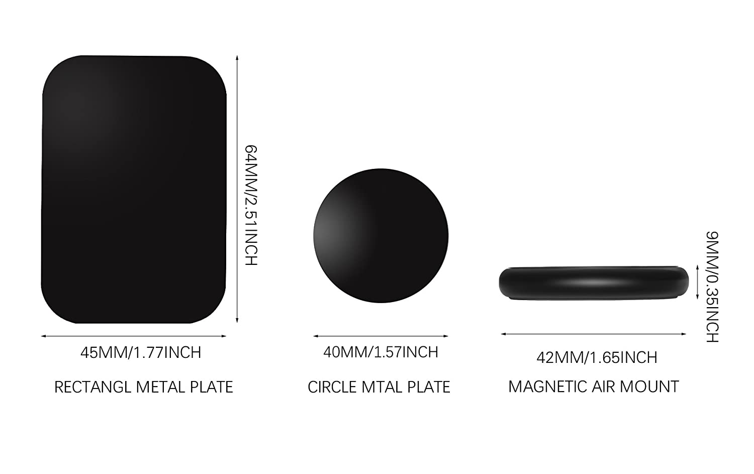 Galaxy S9//S8 S6//S7 Note 9 8 5 Echo Dot More Nekteck Universal Stick on Flat Magnetic Car Mount Phone//Key Holder for iPhone X//8//7 6S// 6 6 Plus Pixel 3//2 XL Nexus 6P 5X SE 4Pack LG G7 G6