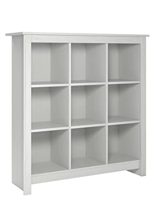 Bon System Build Parker 9 Cube Storage Bookcase, Federal White