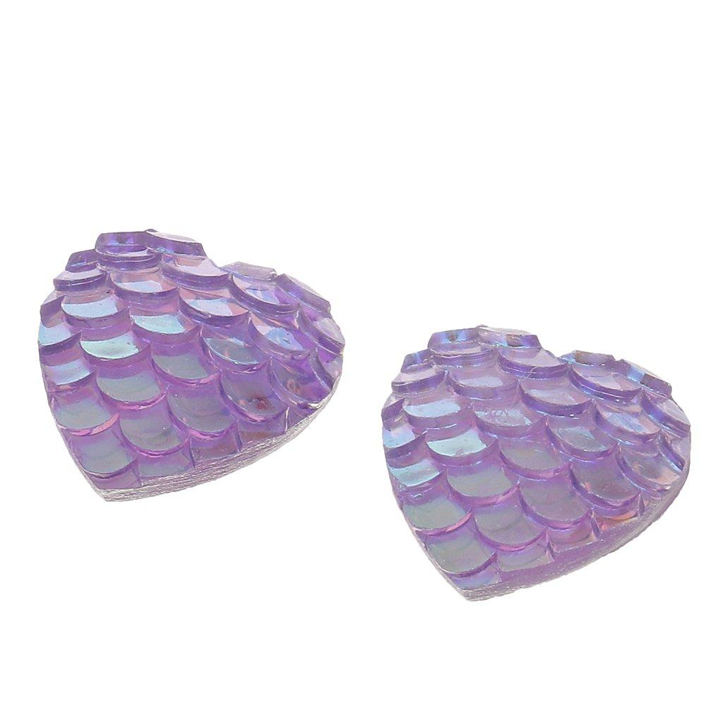 Farbe8 MagiDeal 50pcs 12mm Harz Meerjungfrau Fishscale Glitzersteine Schmucksteine Acrylsteine Strasssteine Bastelsteine zum Aufkleber Klebesteine Kleidung Tasche