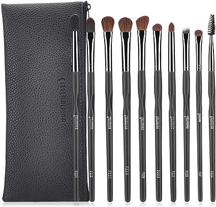 set de brochas para maquillaje Set de pinceles para sombra de ojos, herramientas de maquillaje para ojos, 10: Amazon.es: Belleza