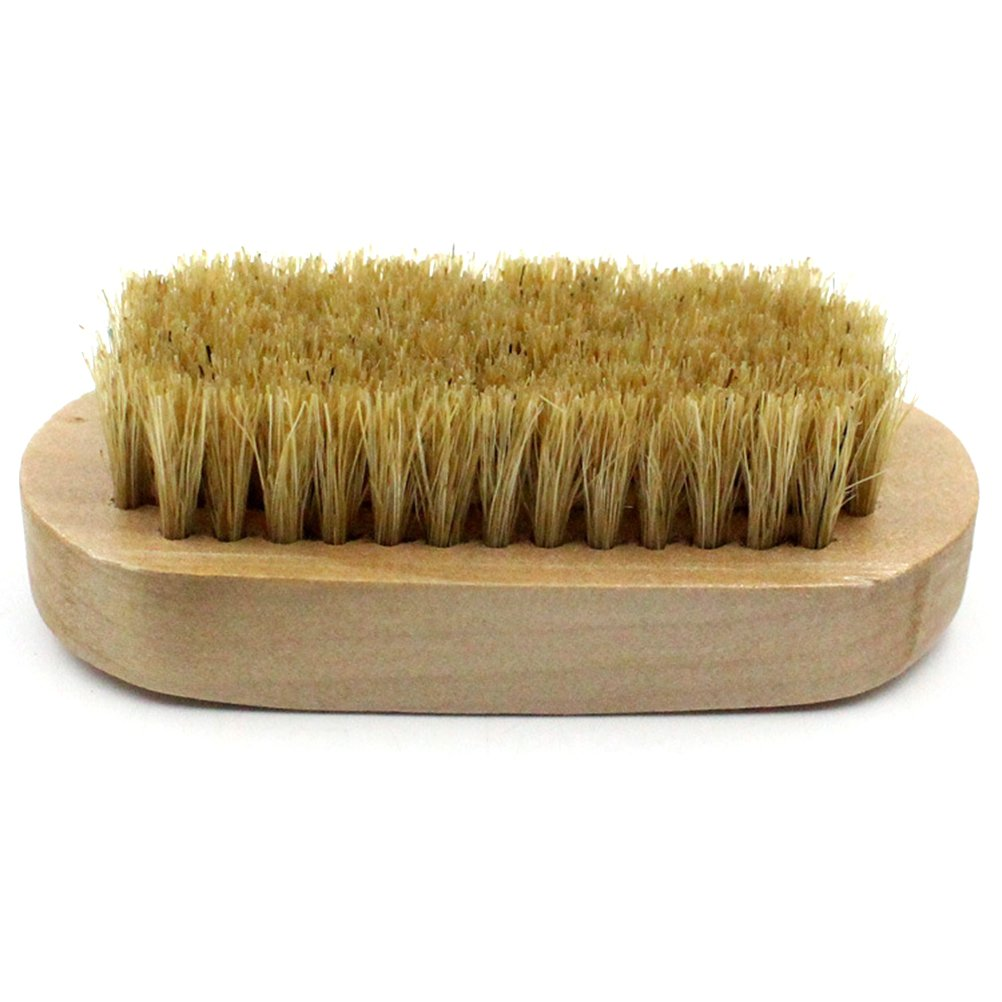 OUNONA Shoe Shine Brush, Soft Horsehair Bristles for Shoes Polishing Buffing Cleaning Dusting Brush Soft Bristles for Shoes Boots Leather Clothes and Bags Care