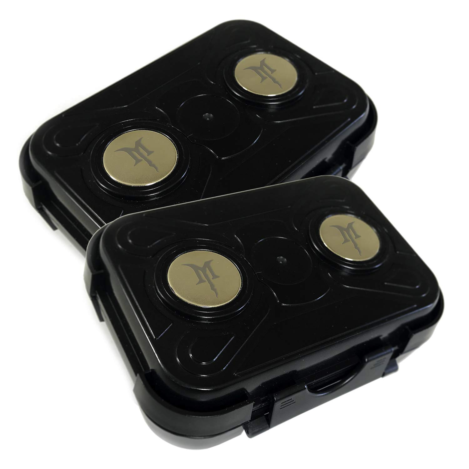 Monster Magnetics MiniMag Plus [2 PACK] Larger Sized Magnetic Stash Box - All-Weather Hide A Key, Locker Box, Magnet-Mount Geocaching Container, Under-Car GPS Tracker Holder - Hide Your Swag Anywhere!