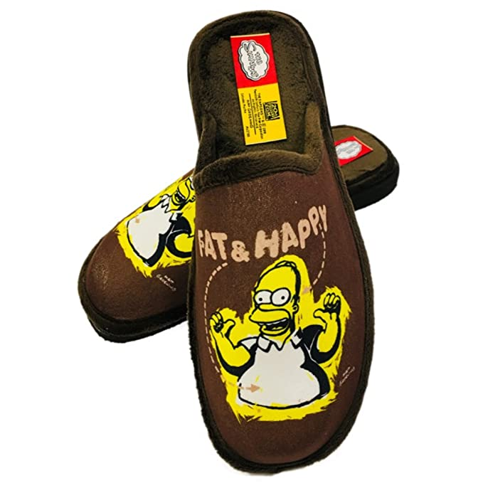 Zapatillas HOMER SIMPSON Andar en Casa MARRÓNhttps://amzn.to/2S3Gv8V