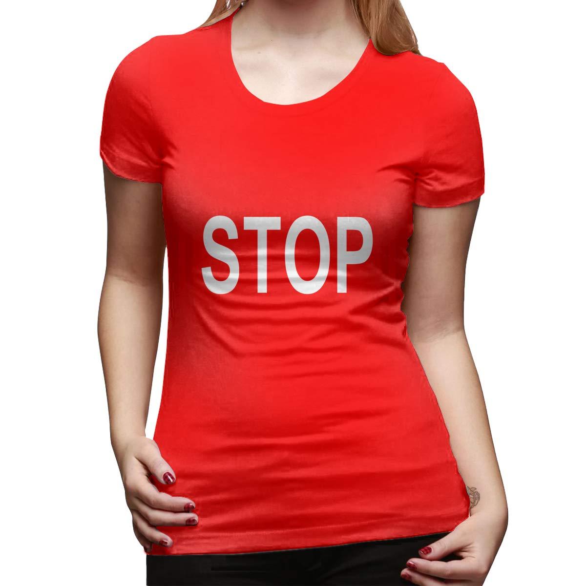 Hayden Harpergfxnjnjn Stop Womens Short Sleeve T Shirt Color Red Size 32