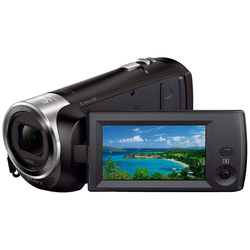 Sony HDR-CX240/B Full HD 9.2 MP Camcorder with 27x Optical Zoom, MicroHDMI, USB 2.0, WiFi, NFC, 2.7'' LCD and SteadyShot Image Stabilization, Black