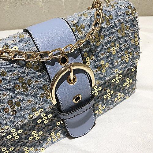 Bag Sac Noir Mode Messenger Bandoulière Meaeo Pailleté À Blue Nouvelle dXCqxwv