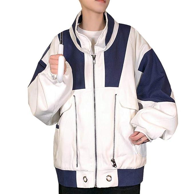 JXKEF Abrigo de Moda para Hombre de Primavera y otoño ...