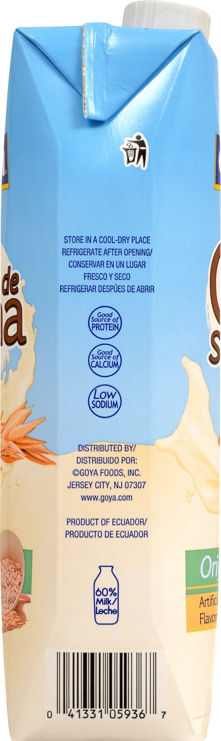 Goya Foods Oat Smoothie, Strawberry, 8.5 Ounce (Pack of 24)
