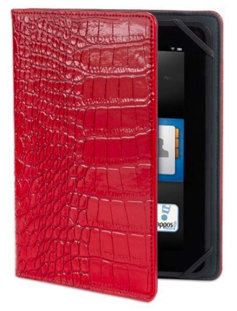 """Verso Trends Darwin Croc Case for Kindle Fire HD 7"""", Red (will only fit Kindle Fire HD 7"""")"""