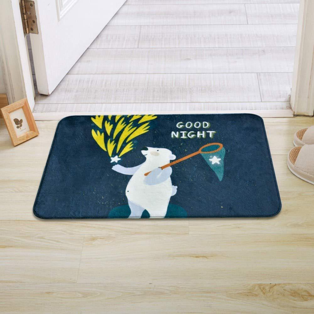 CWJ Cartoon Animal Pattern Door-to-Door mat Children Kitchen Water-Absorbing Anti-Slip mat Door mat Room Window mat,D,4060