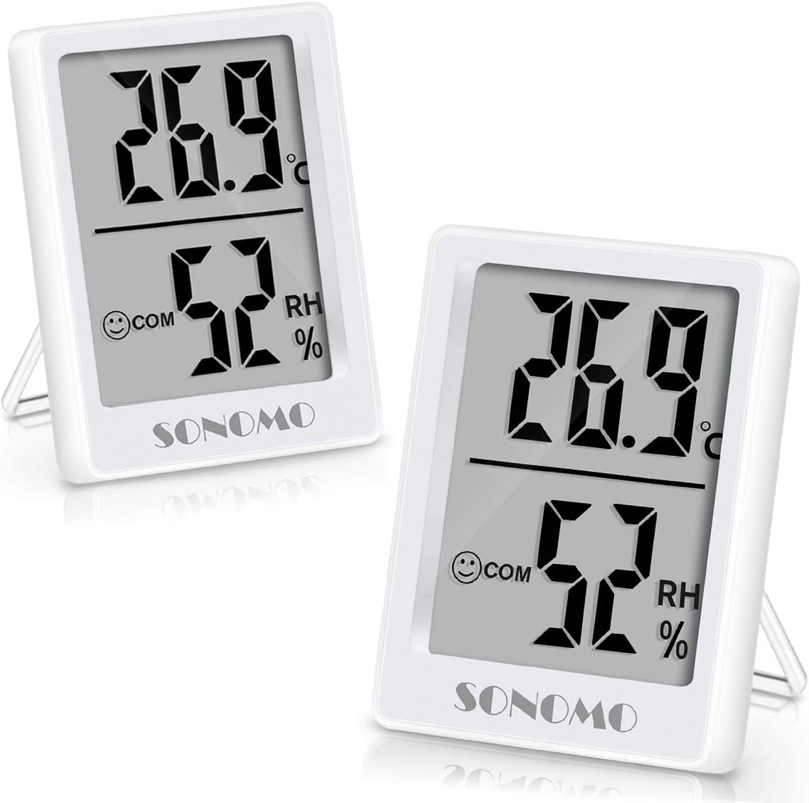 Sonomo Termometro Igrometro Termometro Indoor Igrometro Digitale Termometro Umidificatore ad Alta Precisione per Interni Baby Camera Soggiorno Ufficio