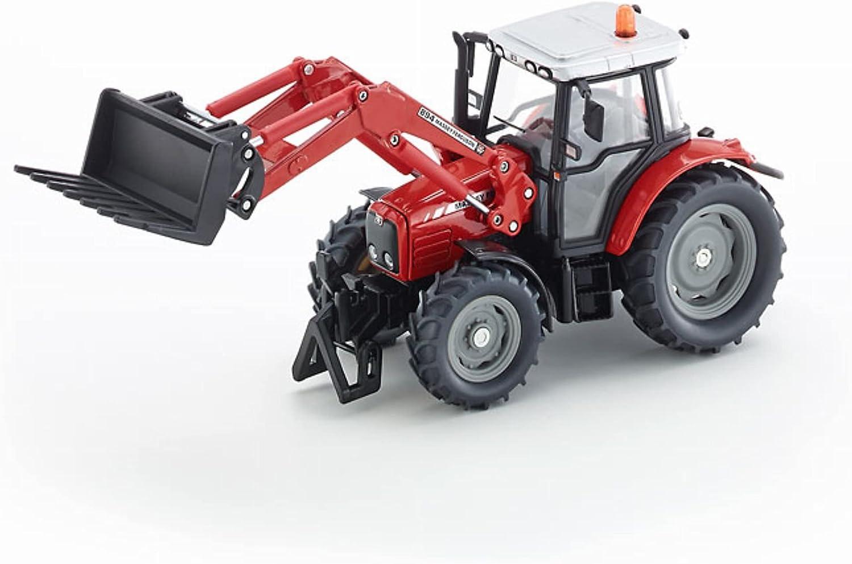 Nuovo Blister Siku 1484 Massey Ferguson con Caricatore Frontale Rosso °