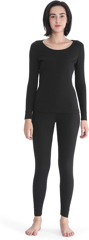 Femofit Thermal Underwear for Women Long Johns Set Base Layer Long Underwear S~XL