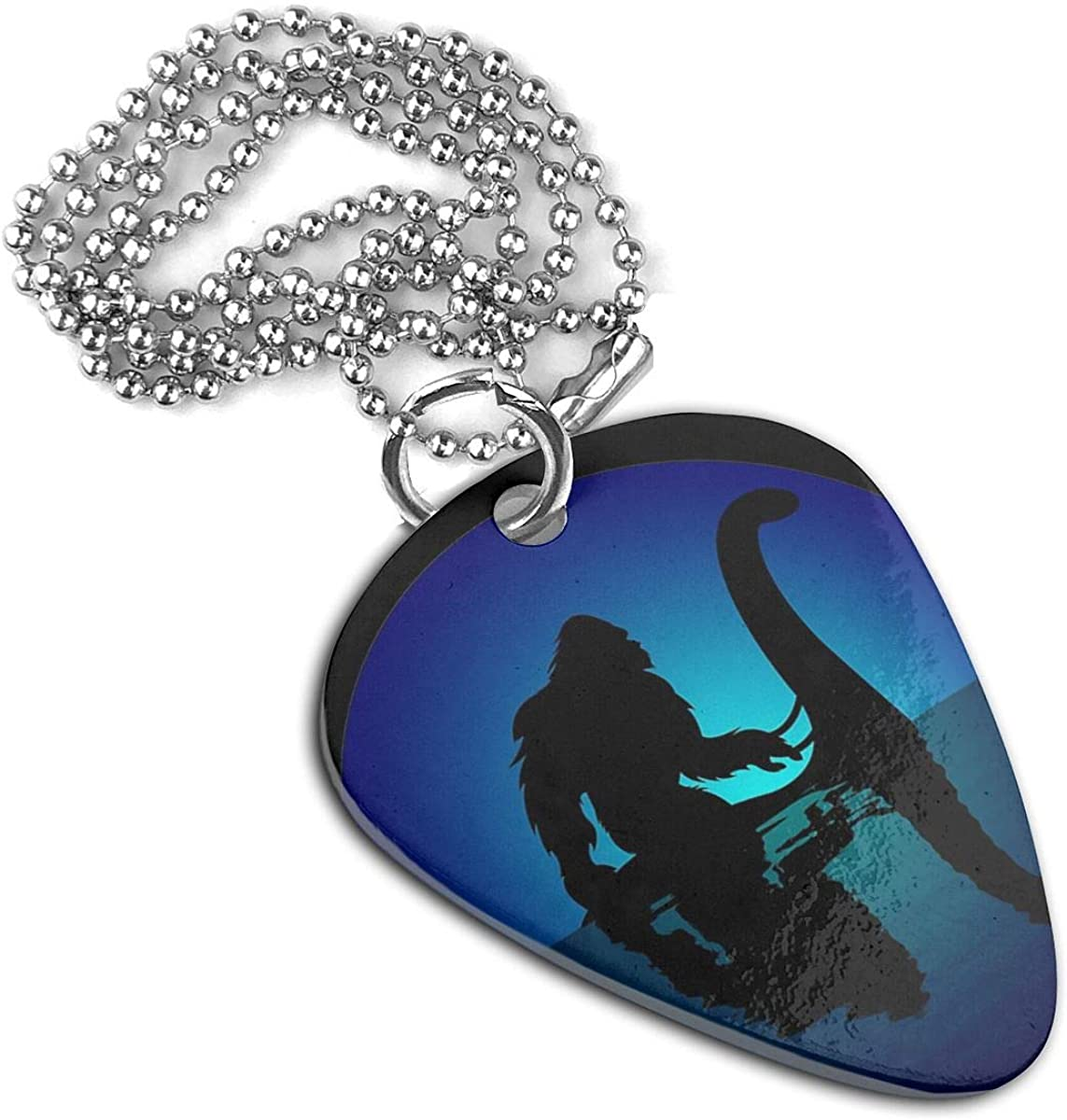 Riding On Nessie Guitar Pick Necklace Pendant Pet Card Keychain