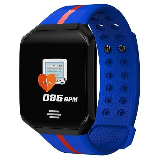 MJ-Smartwatch Gimnasio Reloj Inteligente Hombres Mujeres Pantalla ...