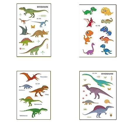 Shuny 40 Hojas Dinosaurio Tatuajes Temporales, Tatuaje Dinosaurio ...