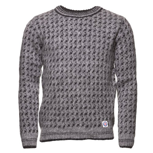 ICEWEAR Faereyingur Men's Sweater Knit Design for winters without Zipper 100% Icelandic Wool Long Sleeve   Gray - XL - Icelandic Sweaters Wool