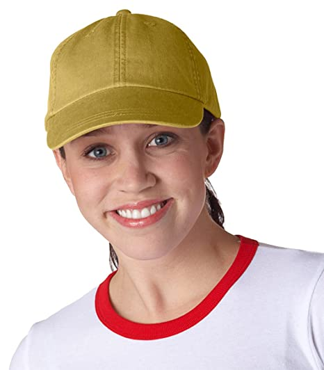 d542efeb9 Adams 6-Panel Low-Profile Washed Pigment-Dyed Cap at Amazon Men's Clothing  store:
