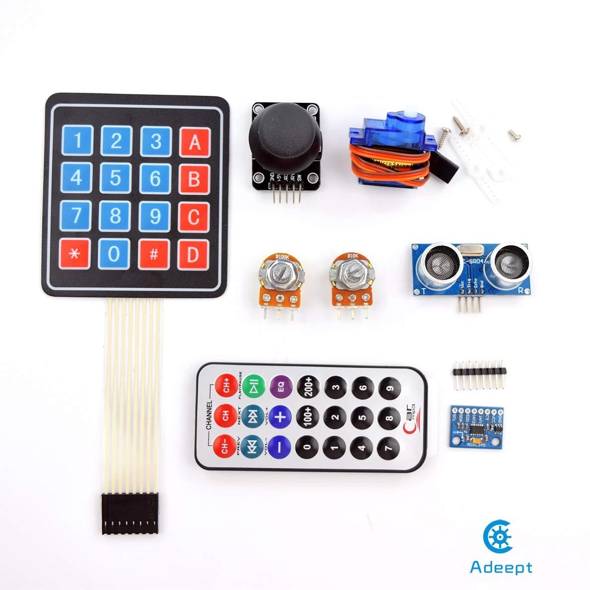Adeept RFID RFID RFID Starter Kit for Arduino UNO R3, Servo, RC522 RFID Module, PS2 Joystick, Arduino Beginner Starter Learning Kit with PDF Guidebook and C Code 8e6416