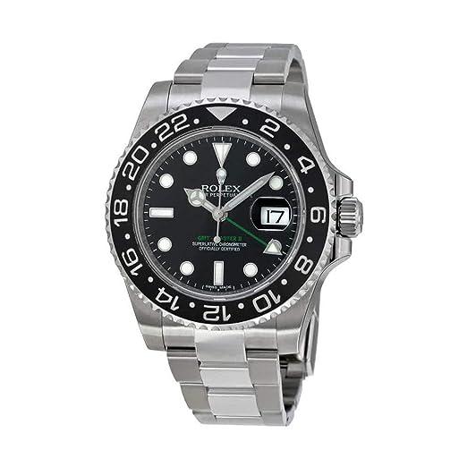 Rolex GMT Maestro II Negro Índice Dial Ostra Pulsera Acero 116710bkso - Reloj de hombre: Rolex: Amazon.es: Relojes