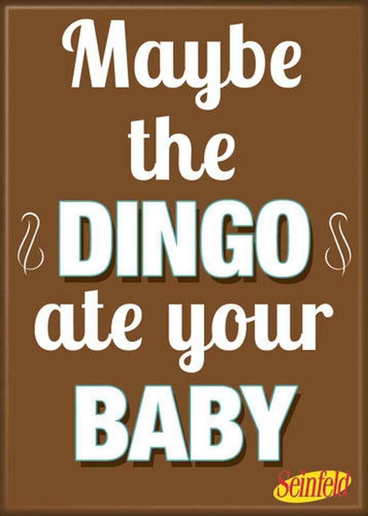 Ata-Boy Seinfeld Dingo Ate Your Baby 2.5 x 3.5 Magnet for Refrigerators and Lockers 21319SE