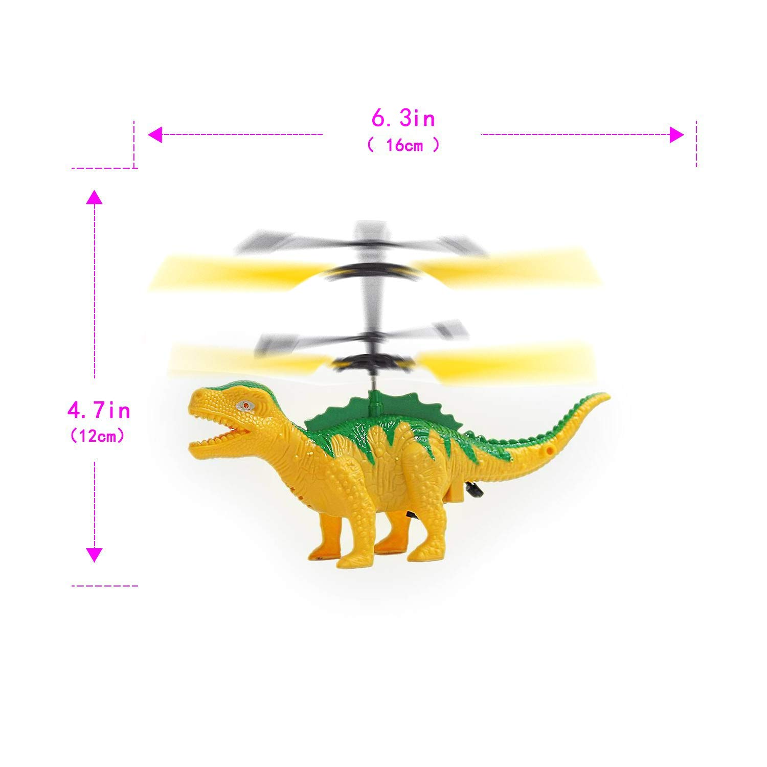 Anda RC Flying Helicopter Dinosaurs Dragon Toys for 6 Year Old Boys Girls Kids, Mini Remote and Hand Controlled Dinosaurs Helicopter for Birthday Holiday Xmas by Anda (Image #2)