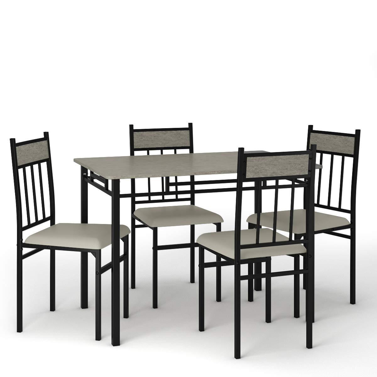 Tangkula 5 Piece Kitchen Dining Table Set