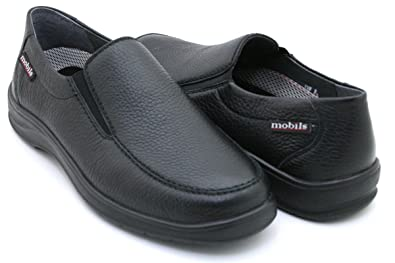 a3916a855b Amazon.com | Mephisto Mobils Ewald Black Leather Wide FIT Slip-on ...