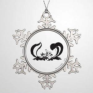 BYRON HOYLE Xmas Trees Decorated Pepe Le Pew and Penelope 4 Personalised Christmas Decor Christmas Snowflake Ornaments Xmas Decor Wedding Ornament Holiday Present
