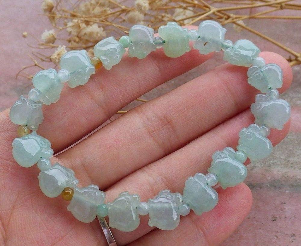 Burnese Type A Natural Jadeite Jade Jadeite bead Bracelet 5mm