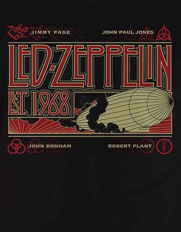 G/én/érique LED Zeppelin Zeppelin /& Smoke T-Shirt Manches Courtes Noir