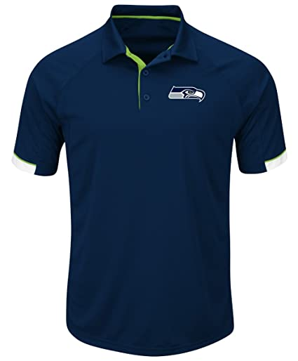 Image Unavailable. Image not available for. Color  Majestic Seattle  Seahawks NFL Last Minute Win Men s Short Sleeve Polo eb24afde7