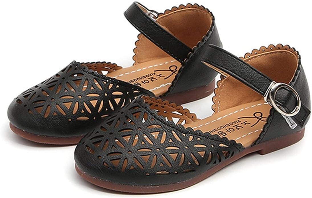 CYBLING Girls Summer Closed-Toe Sandals