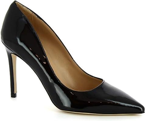 Leonardo Shoes Escarpins en Cuir Verni pour Femme, Noir
