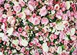 WOLADA 7x5ft Colorful Flowers Photography backdrops Valentine's Day Spring Rose Wall Photo Backdrop newborn kids baby shower wedding studio 11008