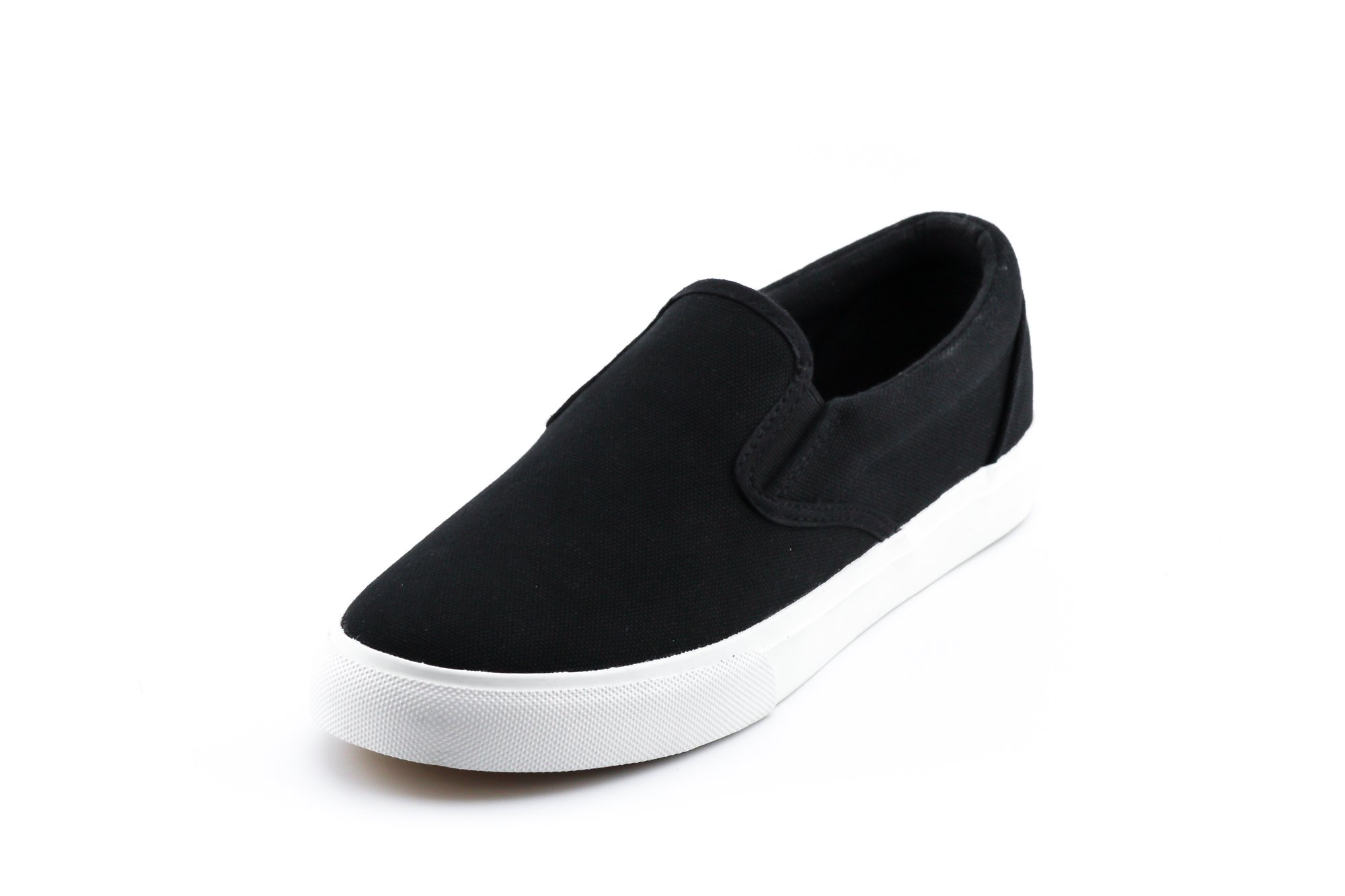 CALICO KIKI HALLIE-CK01 Women's Slip On Canvas Sneakers Casual Comfort (8.5 US Black)