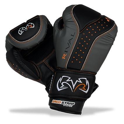 Rival Boxing Bag Gloves RB10-Intelli Shock Black Grey