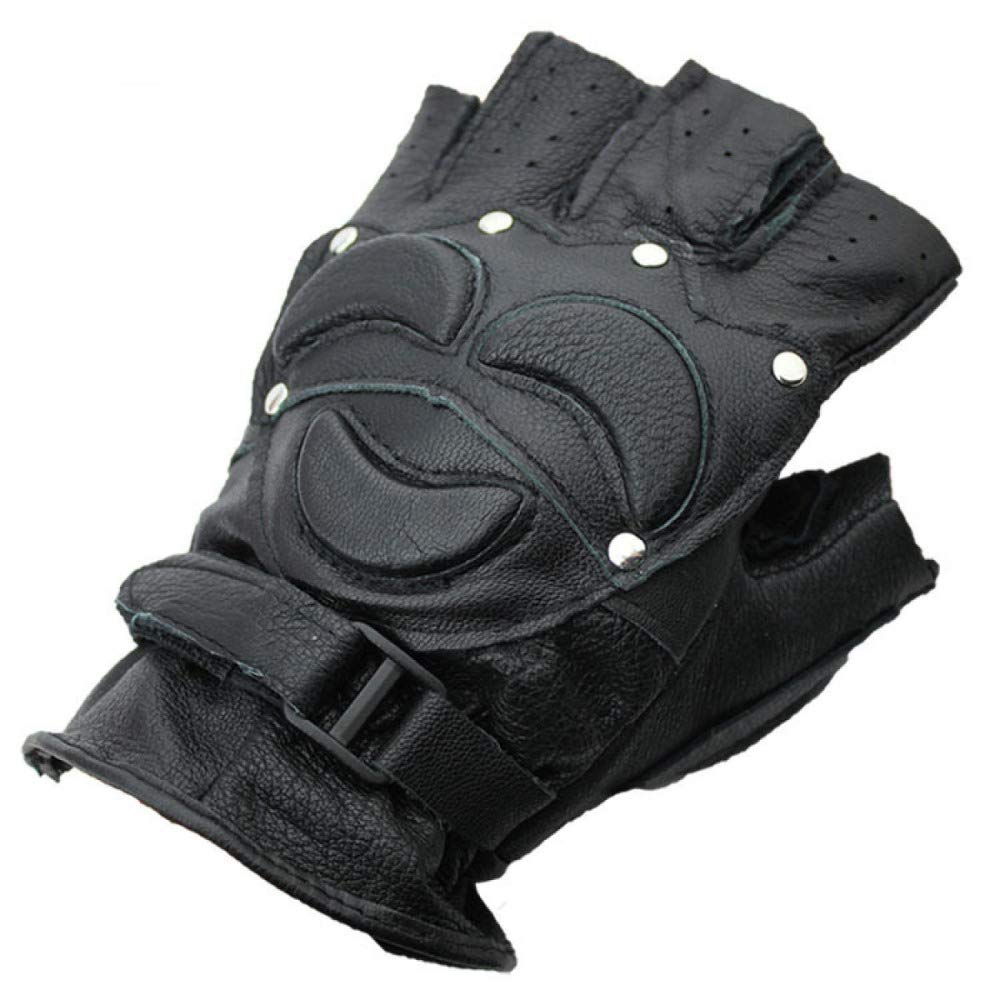 YIWANGO Halbe Fingerhandschuhe Für Herren Sportkampfsport-Outdoorhandschuhe,1-OneSize
