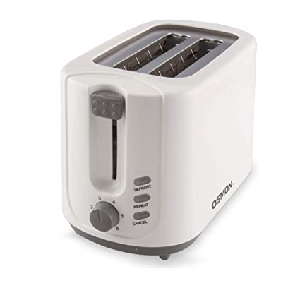 Osmon OS 70TP- 2-Slice Pop-up Toaster with lid