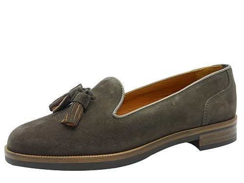 Tommy Hilfiger Diana 6b - Mocasines de Piel para mujer, color Gris, talla 41: Amazon.es: Zapatos y complementos