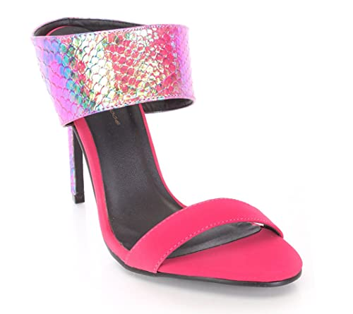 224649765ee1 Fourever Funky Colorful Pink Blue Crisscross Platform Women s Wedge Sandals